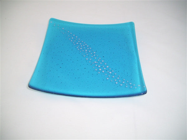 Flared Square Plate - 245 - Breeze - Turquoise Snow