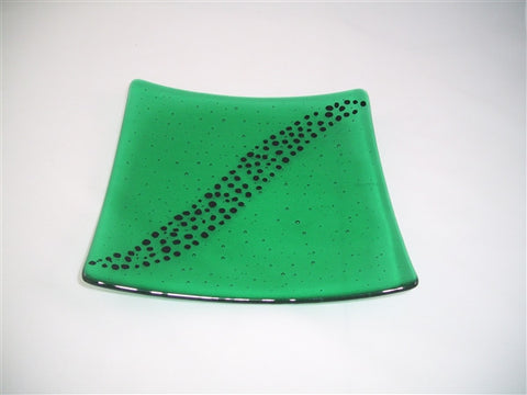 Flared Square Plate - 245 - Breeze - Emerald Ink