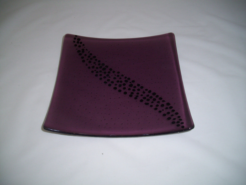 Flared Square Plate - 245 - Breeze - Light Violet Ink
