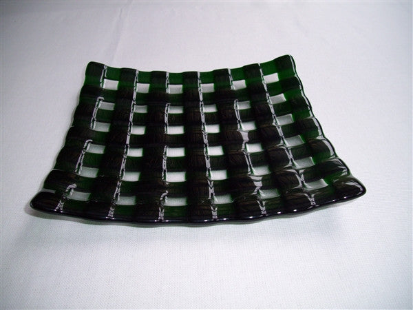 Flared Square Plate - 245 - Lattice - Pure Kelly Green