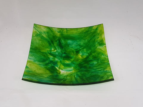 Flared Square Plate - 300 - Chaos - Green Aurora - M127