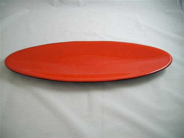 Long Oval Dish - Double Delight - Orange Opal Ink