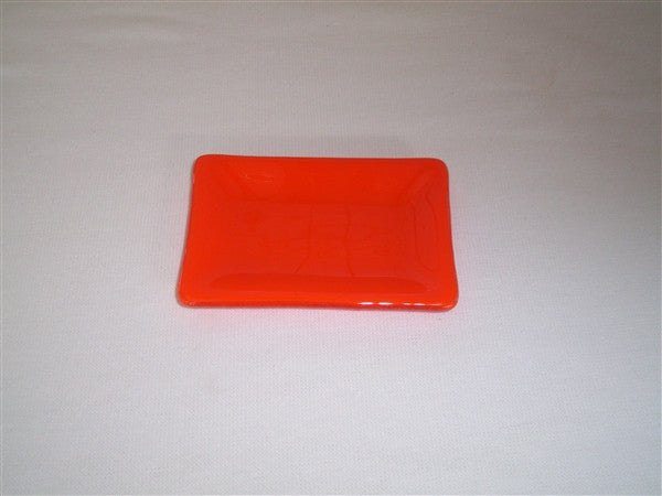 Mini Rectangular Dish  - Delight - Orange Opal