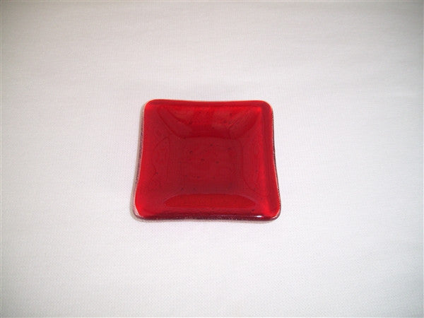 Mini Square Dish  - Delight - Red
