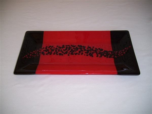 Rectangular Plate - Changing Breeze - Red Opal Ink