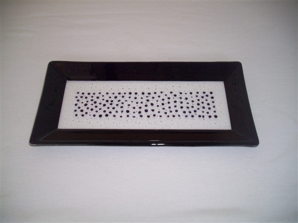 Rectangular Plate - Framed Sprinkles - Pure Deep Purple