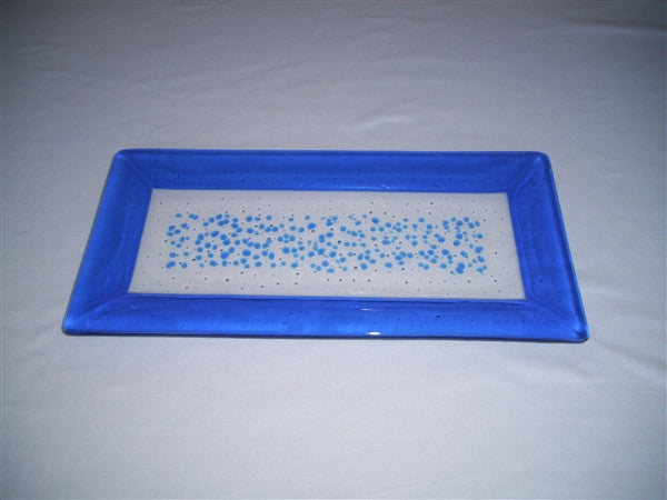 Rectangular Plate - Framed Sprinkles - Pure True Blue