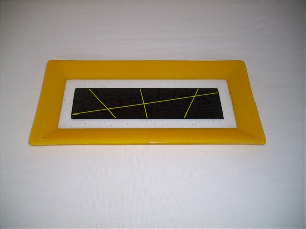 Rectangular Plate - Framed Stix - Pure Sunflower Ink