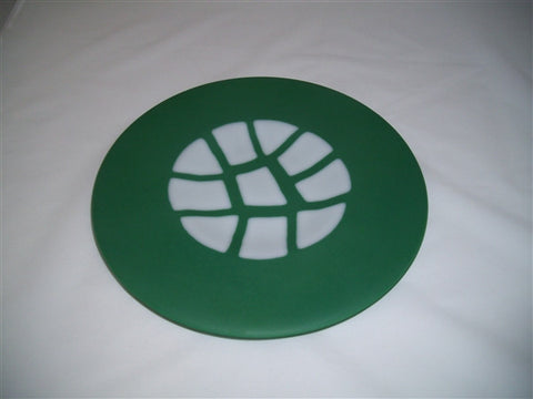 Round Plate - Stepping Stones - Satin Jade Snow