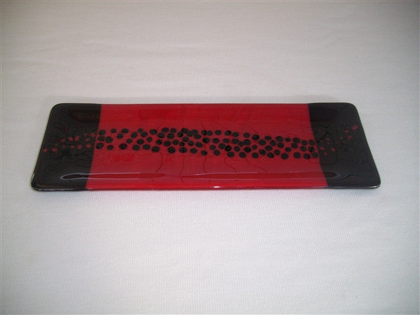 Shallow Rectangular Plate - 105 - Changing Breeze - Red Opal Ink