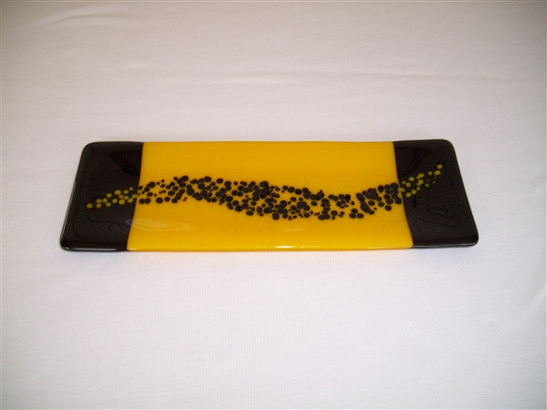 Shallow Rectangular Plate - 105 - Changing Breeze - Sunflower Ink
