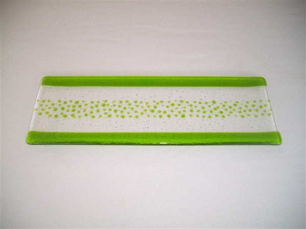 Shallow Rectangular Plate - 130 - Bands & Sprinkles - Pure Spring