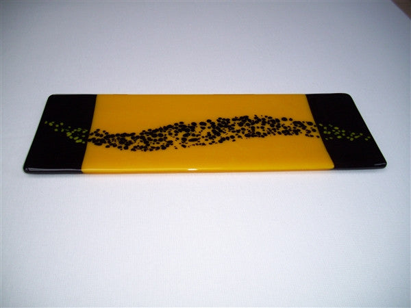 Shallow Rectangular Plate - 130 - Changing Breeze - Sunflower Ink