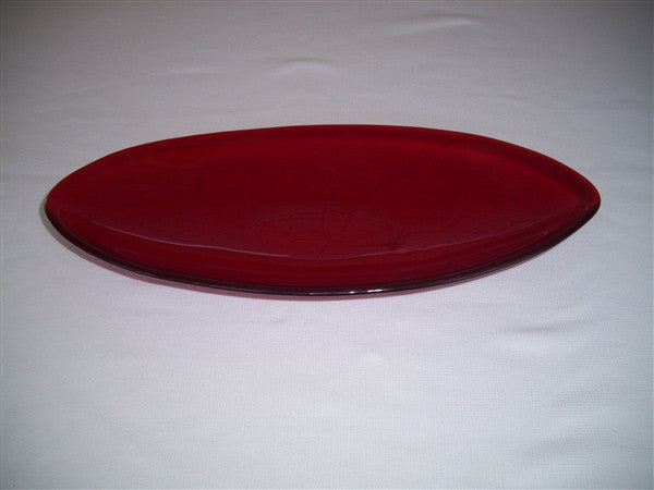 Short Oval Dish - Delight - Red