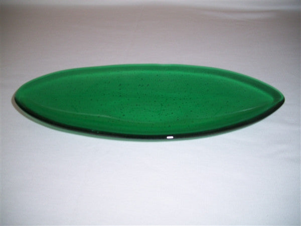 Short Oval Dish - Delight - Emerald