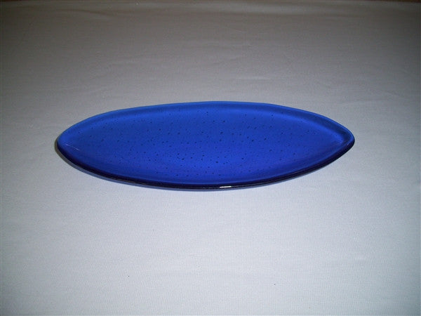 Short Oval Dish - Delight - True Blue