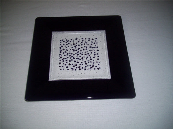 Square Plate - 300 - Framed Sprinkles - Pure Deep Purple