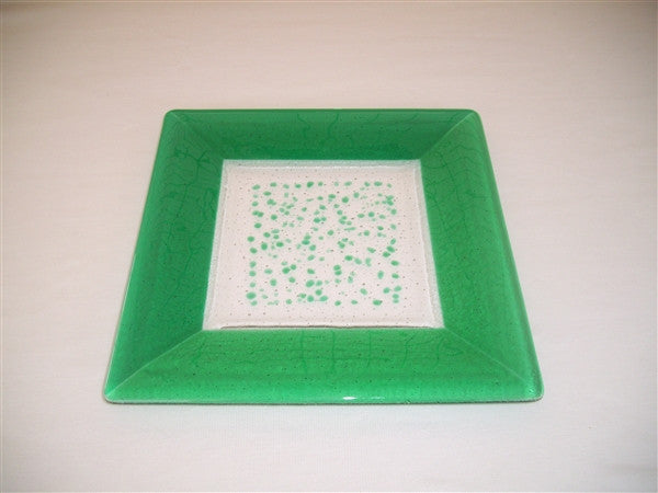Square Plate - 300 - Framed Sprinkles - Pure Emerald