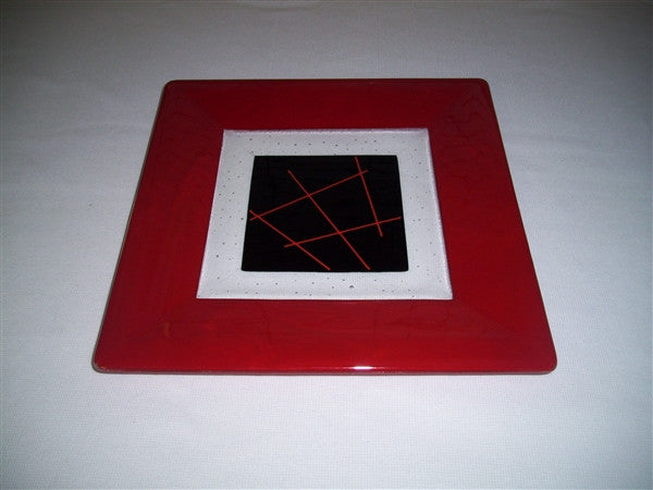 Square Plate - 300 - Framed Stix - Pure Red Opal Ink