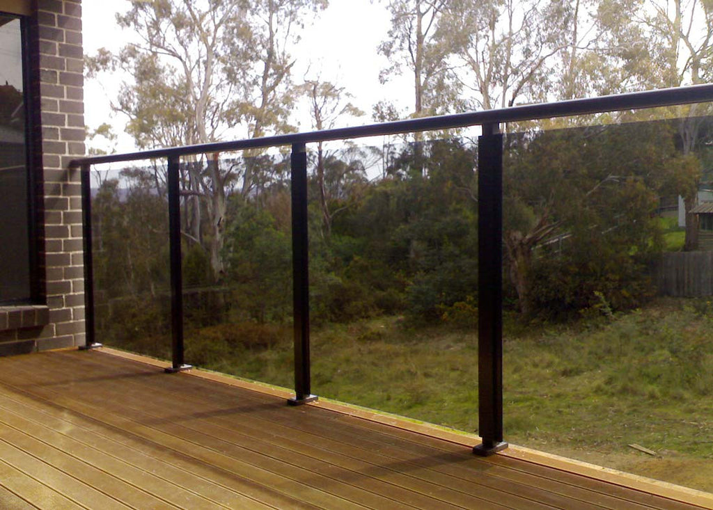 #1 Balustrade Balustrades Semi Framed Glass & Aluminium