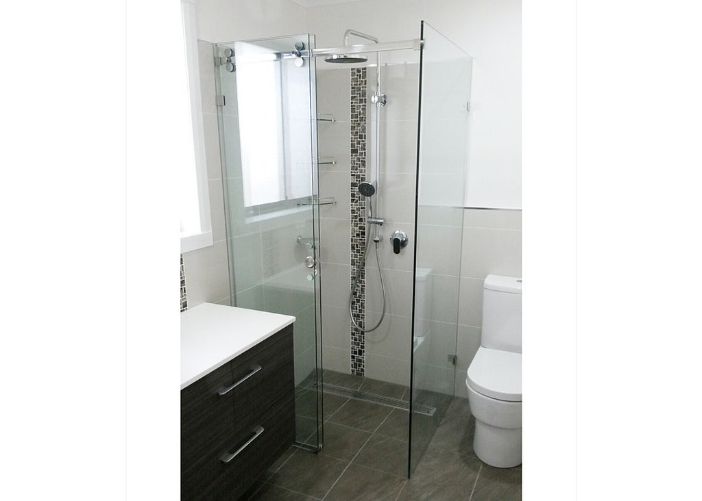 #1 Showerscreens Frameless Sliding