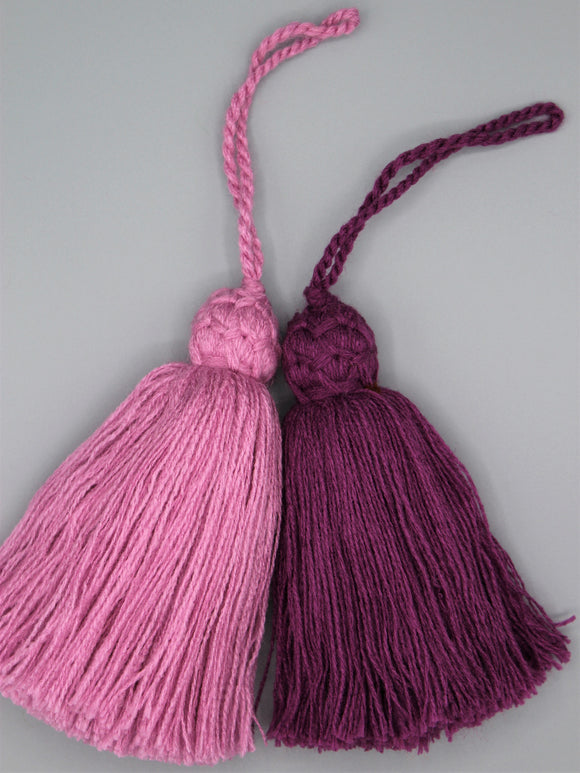 Set of 2 Large Lilac Tassels.