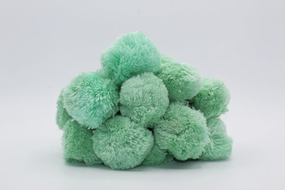 Mint Pompoms, Set of 5 pieces