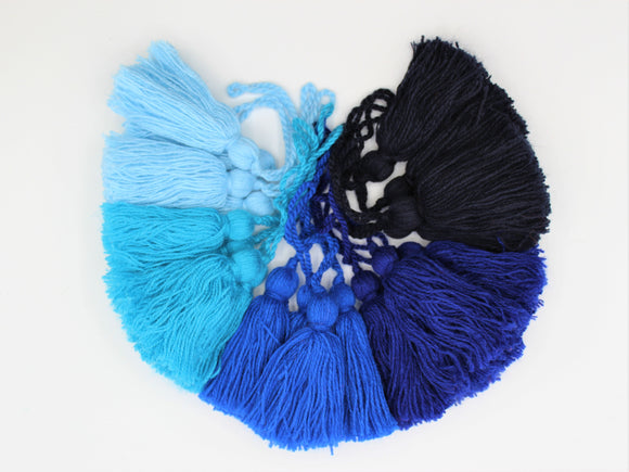 Set of 4 Blue Tassels.