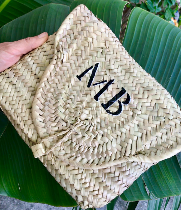 Personalized SOFIA Straw Clutch