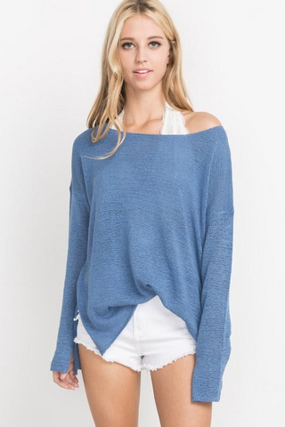 Better Together Blue Knit Sweater