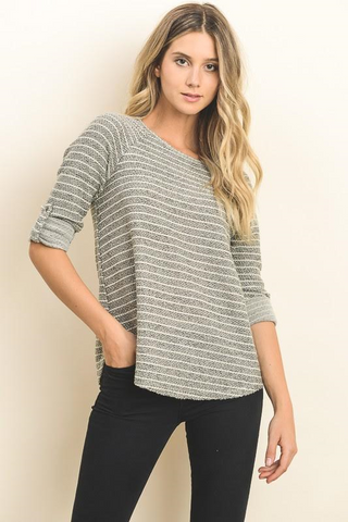 Cassidy Striped Sweater Top
