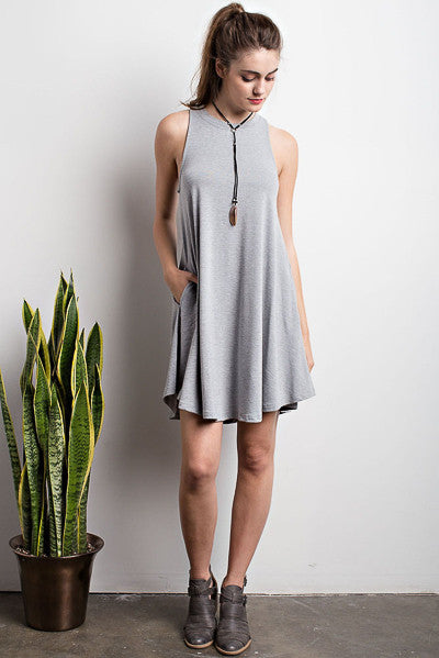 Lets Play Crew Neck Swing Dress - likeNarly