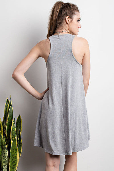 Lets Play Crew Neck Swing Dress