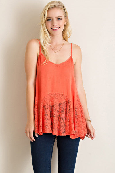 Love Your Sway Lace Tank - likeNarly