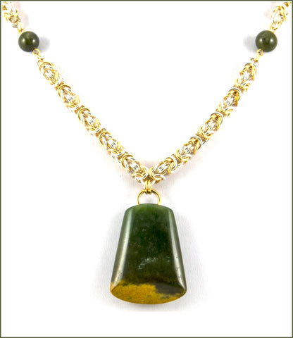 New Zealand Greenstone Necklace