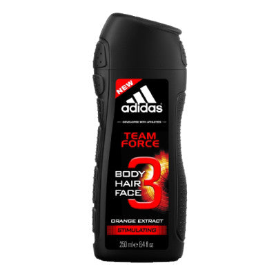 Adidas 3-in-1 Team Force Face, Hair & Body Shower Gel
