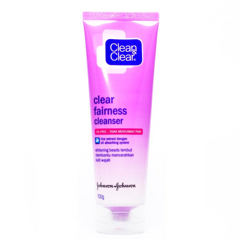 Clean & Clear Clear Fairness Oil Control Cleanser - dailymartsg