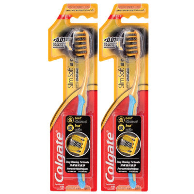 Colgate Slim Soft Charcoal Gold Toothbrush