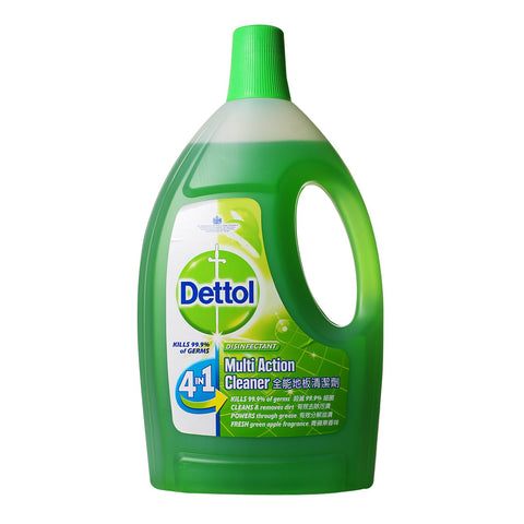 Dettol 4-In-1 Disinfectant Multi Action Cleaner (Green Apple) - dailymartsg
