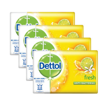 Dettol Fresh Anti-Bacterial Bar Soap - dailymartsg