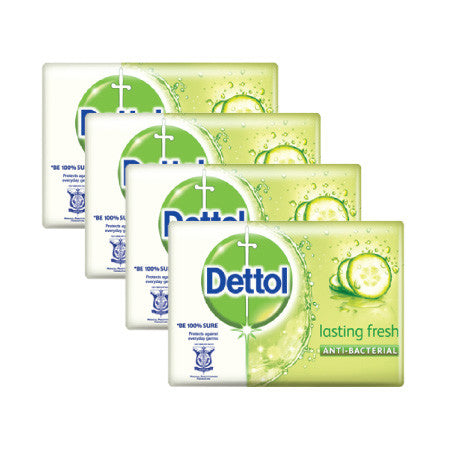 Dettol Lasting Fresh Anti-Bacterial Bar Soap - dailymartsg