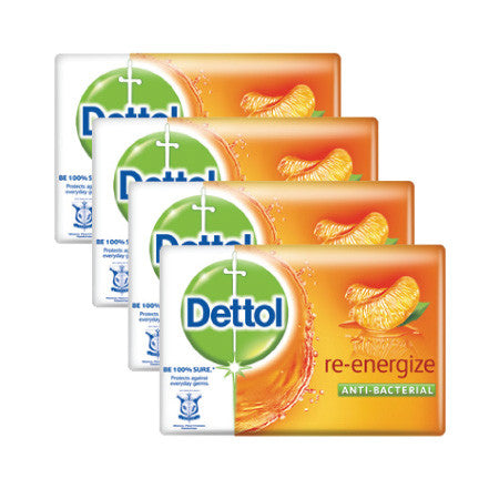 Dettol Re-Energize Anti-Bacterial Bar Soap - dailymartsg