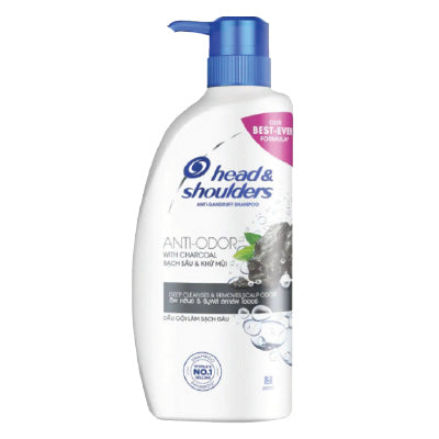 Head and Shoulders Anti Odor with Charcoal Anti-Dandruff Shampoo