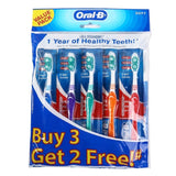 Oral-B All Rounder 1 2 3 Clean Soft Toothbrush