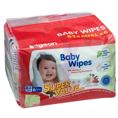 Pigeon Baby Wipes (82 pcs X 6 Packs)