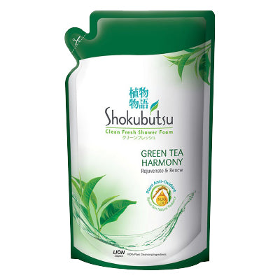 Shokubutsu Green Tea Harmony Beauty Shower Foam Refill Pack