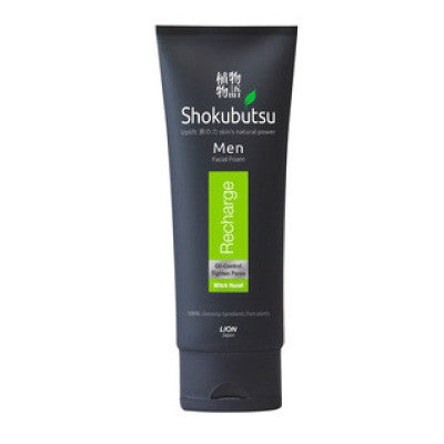 Shokubutsu Men Recharge Facial Foam