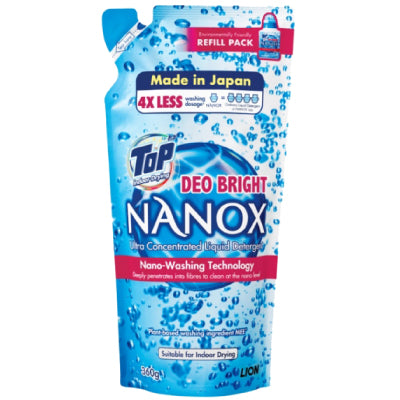 Top NANOX Deo-Bright Concentrated Liquid Detergent Refill