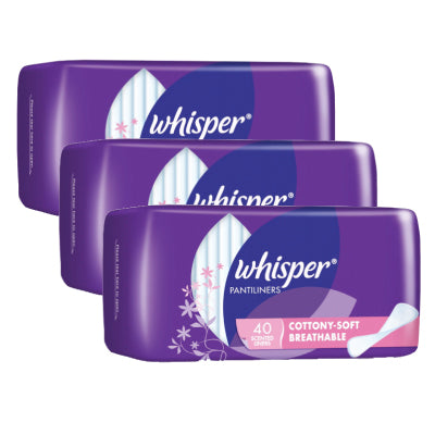 Whisper Cottony-Soft Breathable Scented Pantiliners