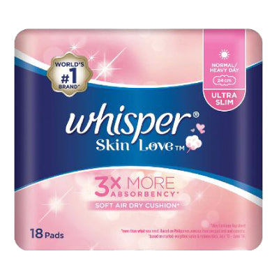 Whisper Skin Love Normal Heavy Day 24cm